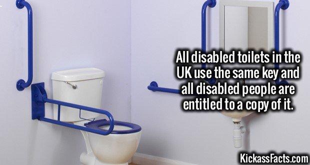 1927 Disabled toilets UK Key