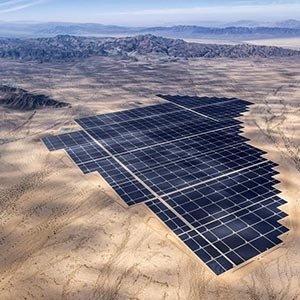 Desert solar farm
