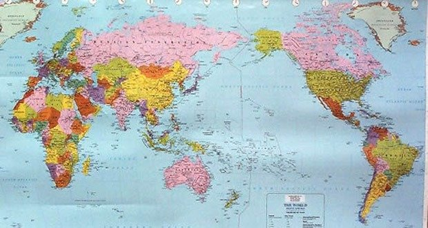 5 world map secrets kickassfacts a simple way to check whether your map was produced in the west or the east the above map is a map from australia whilst the one i have used at the gumiabroncs Gallery