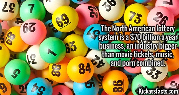 2114 NA Lottery System-The North American lottery system is a $70 billion-a-year business, an industry bigger than movie tickets, music, and p*rn combined.