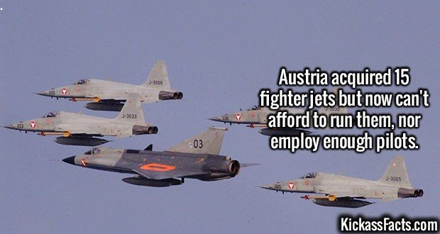 2170 Austria fighter jet-Austria acquired 15 fighter jets but can't afford to run them, nor employ enough pilots.