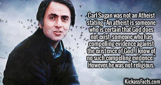 2226 Carl Sagan-Carl Sagan was not an Atheist stating