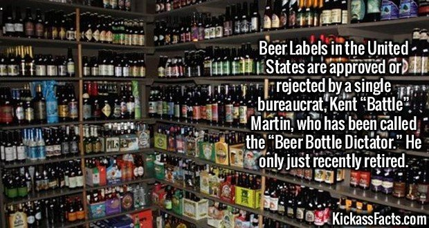 "2623 Kent Martin Beer Label-Beer Labels in the United States are approved or rejected by a single bureaucrat, Kent ""Battle"" Martin, who has been called the ""Beer Bottle Dictator."" He only just recently retired."