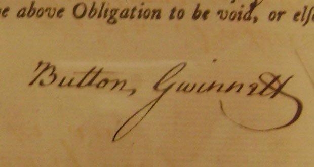 05.  Button Gwinnett Signature
