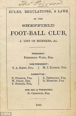 01. The Rules, Regulations, & Laws of the Sheffield Foot-Ball Club