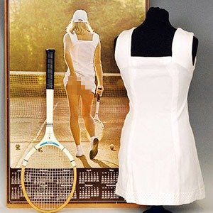 08.  Tennis Girl Dress and Racket