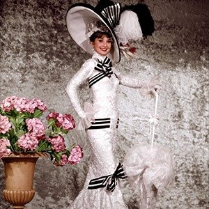 "21. Audrey Hepburn's Ascot dress, ""My Fair Lady"""