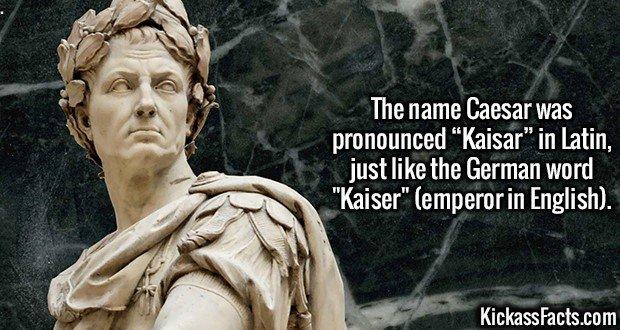"2482 Caesar-The name Caesar was pronounced ""Kaisar"" in Latin, just like the German word"
