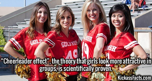 "2562 Cheerleader Effect-""Cheerleader effect"", the theory that girls look more attractive in groups, is scientifically proven."