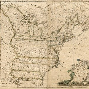 30. 1789 Map of America, Abe Buell