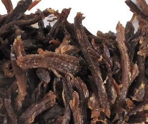 Dried and salted llama meat