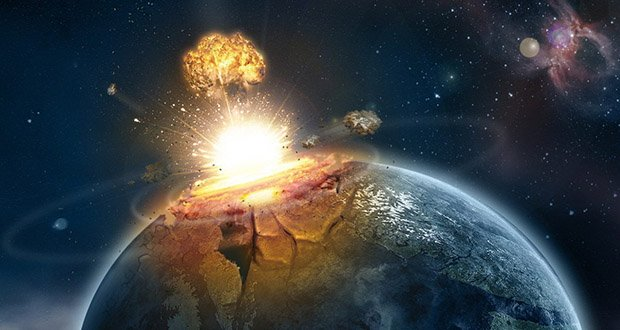 Meteor Impact Nuclear Explosion
