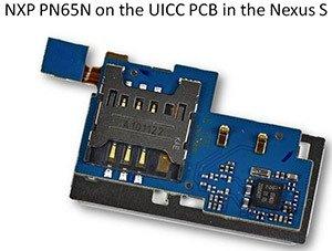 NXP PN65N on the UICC PCB in Nexus S