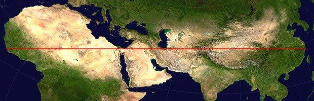 Straight Land Line
