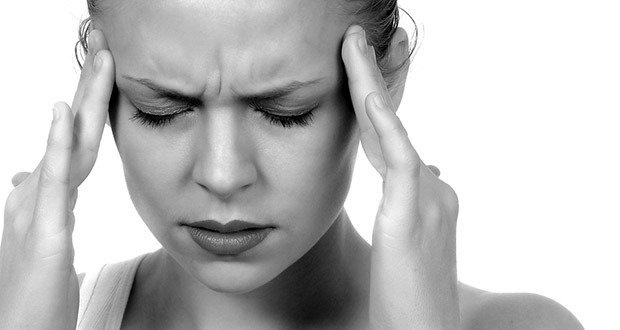 04. If you get a headache that hurts mostly in the front of your head, or behind your eyes…