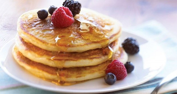 05. For fluffy, Mile-High pancakes…