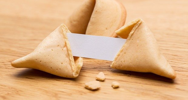 Chinese fortune cookie with note