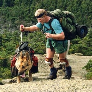 Blind hiker Bill Irwin