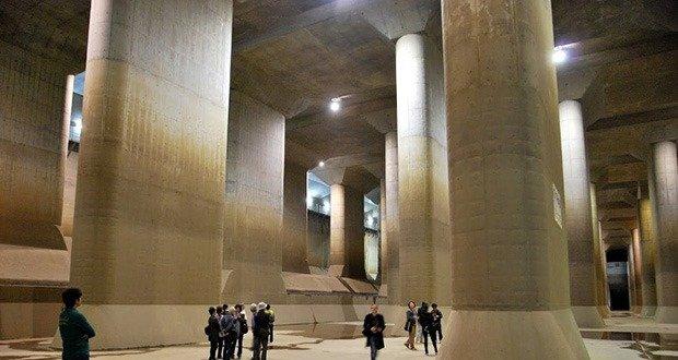 Tokyo flood tunnels