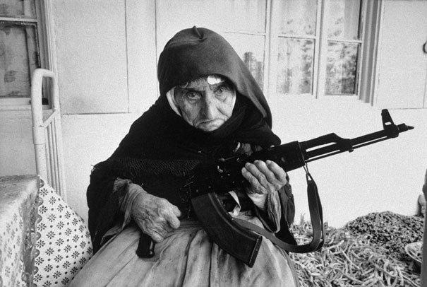 Armenian Woman guards home