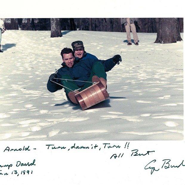 Arnold and President Bush