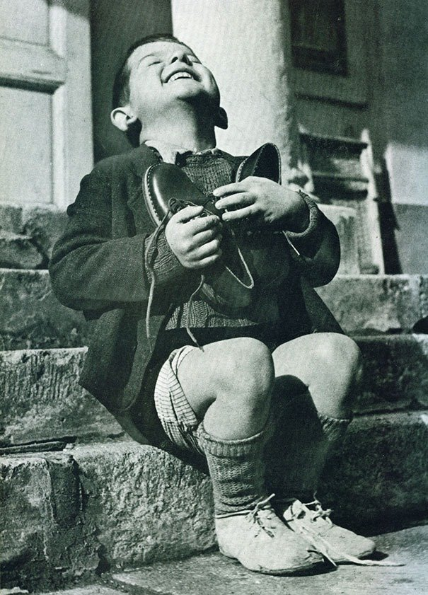 Austrian boy receives new shoes