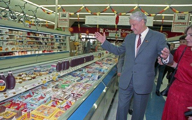 Boris Yeltsin Supermarket Visit