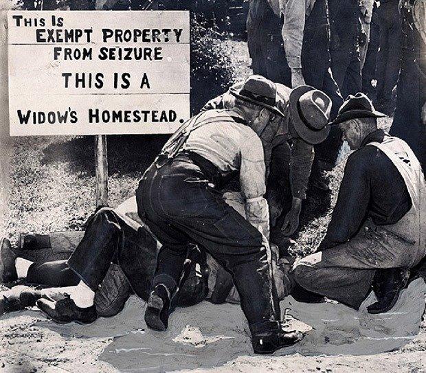 Farmers take down the sheriff