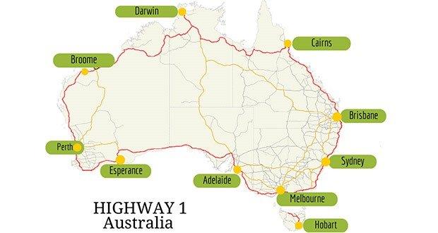 Highway 1 in Australia