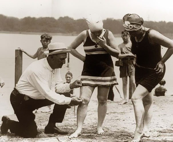 Measuring bathing suits