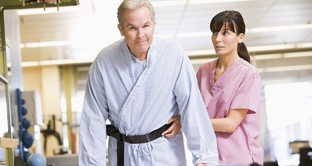 Nurse With Patient In Rehabilitation
