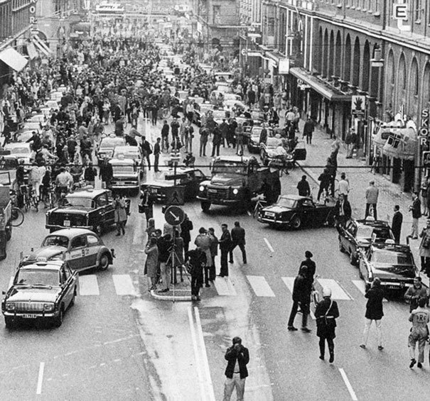 Sweden changes driving rules