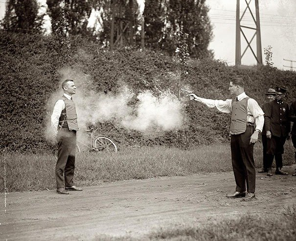 Testing of new bulletproof vests