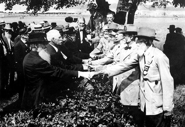 Veterans Shake Hands