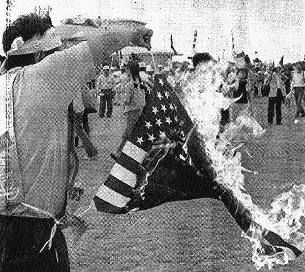 01. Burning American Flag