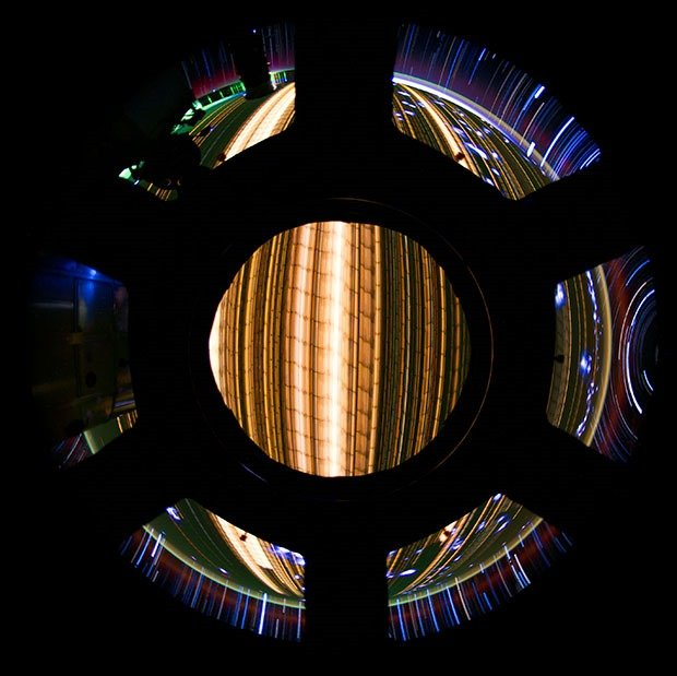 Star trail composite created with iss030e173064 thru iss030e173259