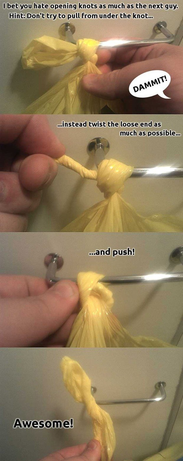 How to open nearly any knot