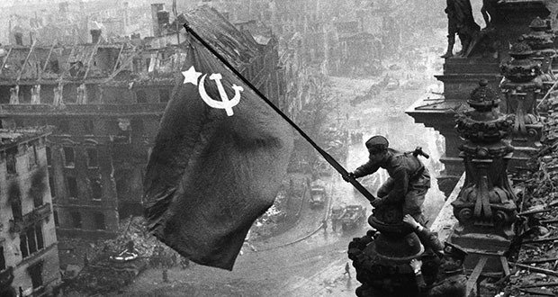 The Soviet flag over the Reichstag, 1945