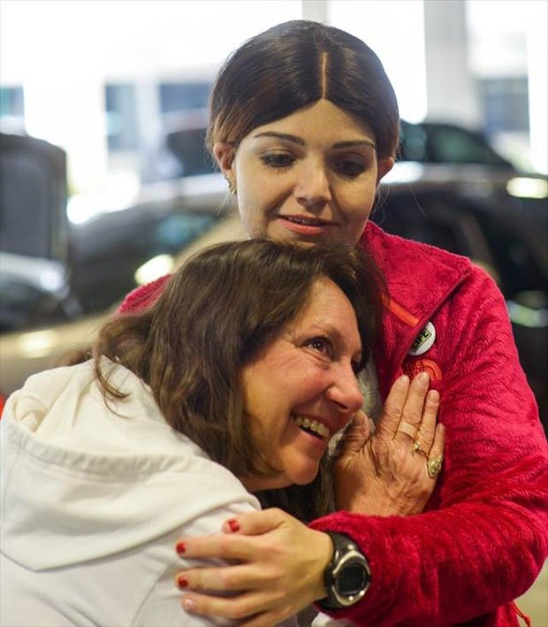 17. Mother hearing dead son's heartbeat