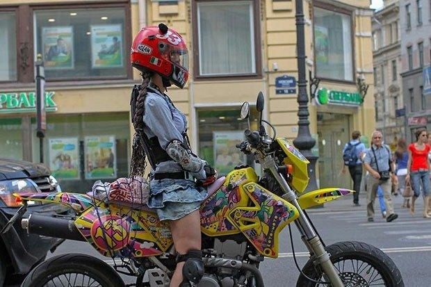 19. Biker chick