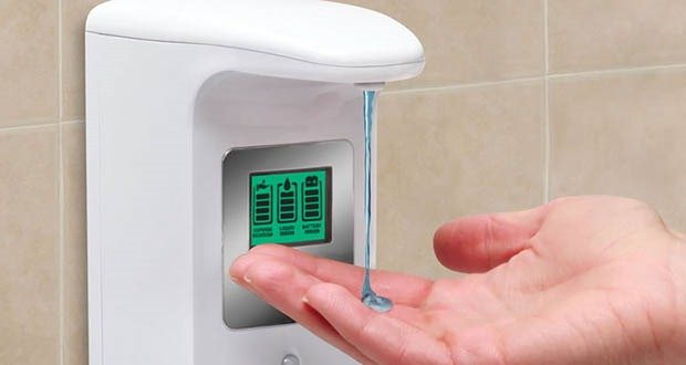 Touch-free soap dispensers