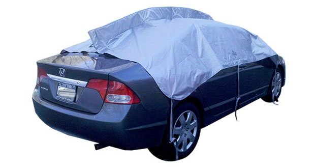 Car snow tarp