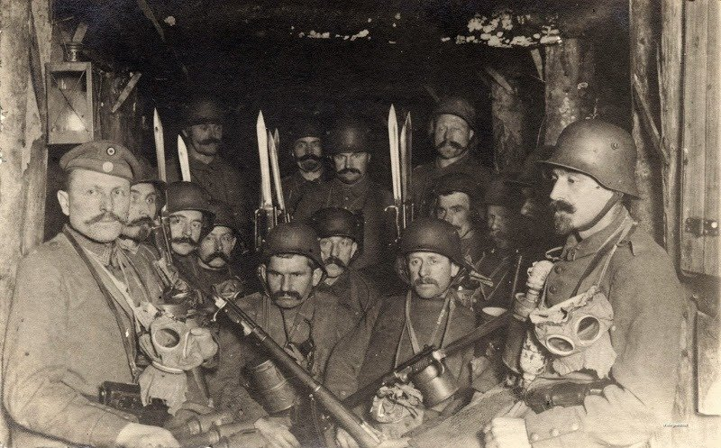 15. Soldiers in a dug out
