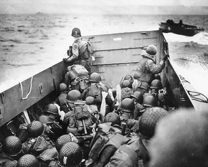 24. Approaching Omaha Beach