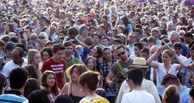 A Crowd Of Women In Public Shower
