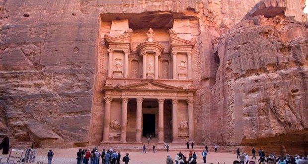 Ancient city of Petra in Jordanc