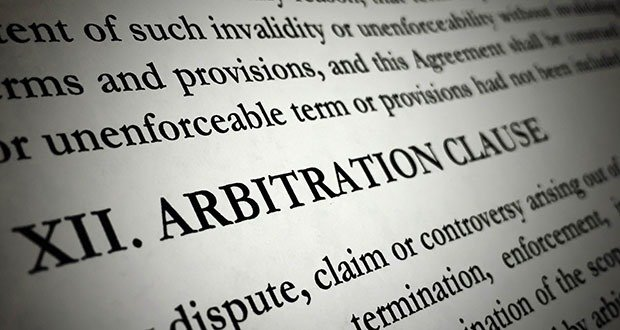 Arbitration provisions