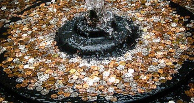 Fountain coins