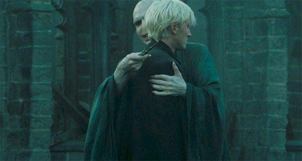 Voldemort hugging Draco