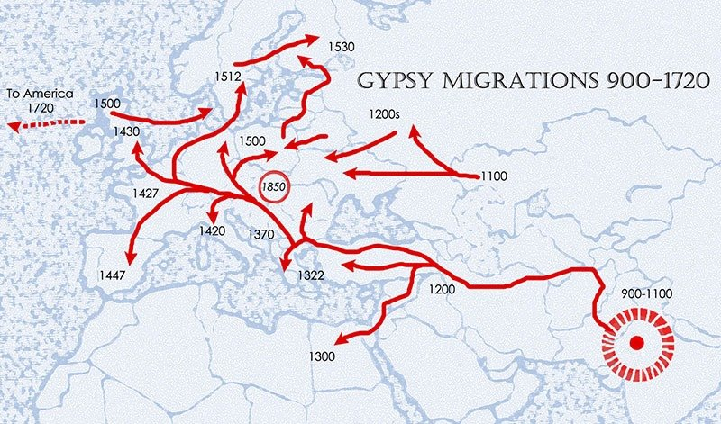 01. Gypsy migrations into Europe Small